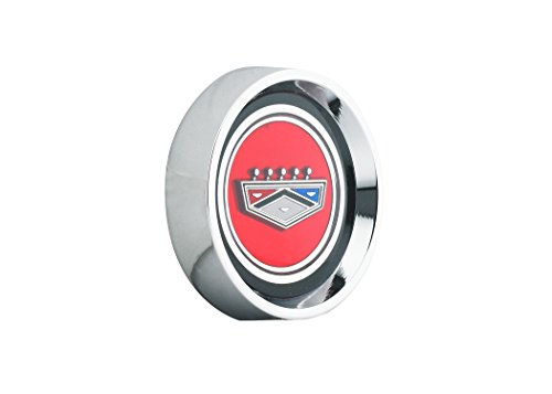 Mustang Wheel Cap Magnum 500 Red Ford Crest Each 1964 1/2 - 1977 - Legendary Wheel Co.