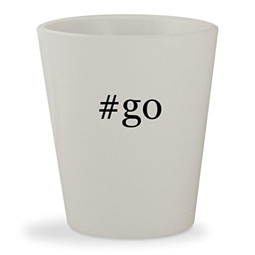 Price comparison product image #go - White Hashtag Ceramic 1.5oz Shot Glass