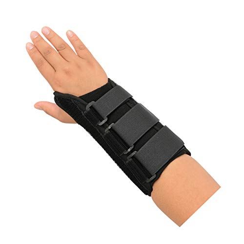 Rolyan A6092 Purple D-Ring Right Wrist Brace Size X-Small Fits Wrists up to 5.75 Wrist Brace 6.25 Long with Straps and D-Ring Connectors to Secure and Stabilize Hands and Wrists and Provide Comfort