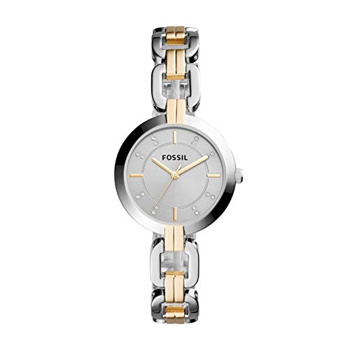 Fossil Women's Kerrigan Quartz Two-Tone Stainless Steel Dress Watch, Color: Silver, Gold (Model: BQ3207) from Fossil