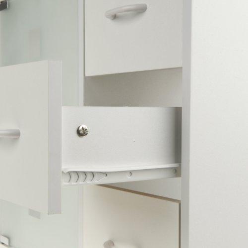 Limal Waschtischunterschrank mit 3 Schubladen Holz weiß, 30 x 60 x ... | {Waschtischunterschrank holz weiß 26}