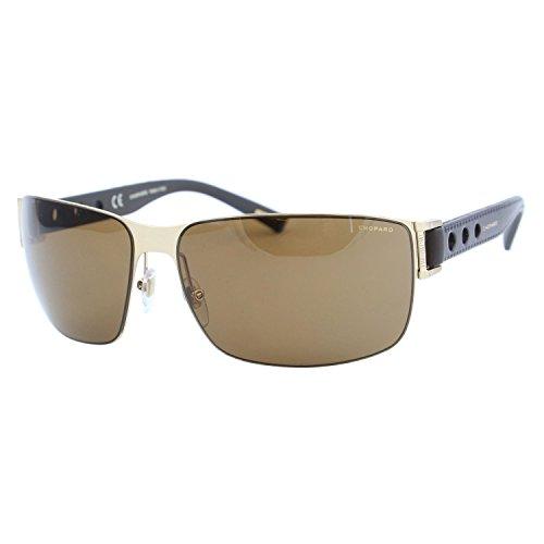 Chopard Mille Miglia SCH-B31 Men Gold Brown Leather Racing Polarized - Chopard Sunglasses Mille Miglia