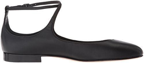 EU Donne Matte Spiga 39 Leather Ballerine Via Nude Nappa donna Black beige Leather qFBaxxRw