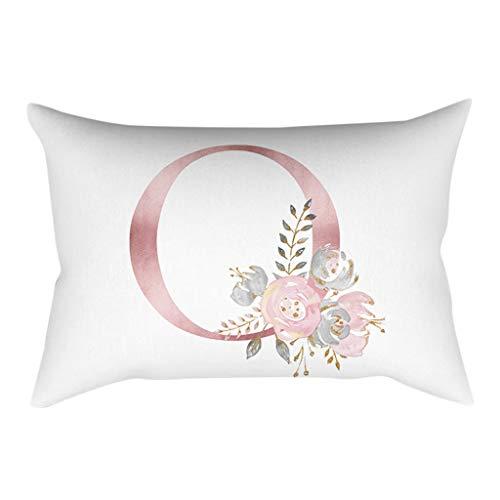 - QBQCBB 30x50 cm Kinder Zimmer Dekoration Brief Kissen Englisch Alphabet Pillowcases(O)