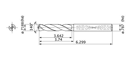 20 mm Shank Dia. Internal Coolant 18.256 mm Cutting Dia 3 mm Hole Depth Mitsubishi Materials MVS1826X03S200 MVS Series Solid Carbide Drill 3.3 mm Point Length