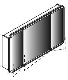 Lanzet Spiegelschrank 120 mit LED-Ring, Weiß