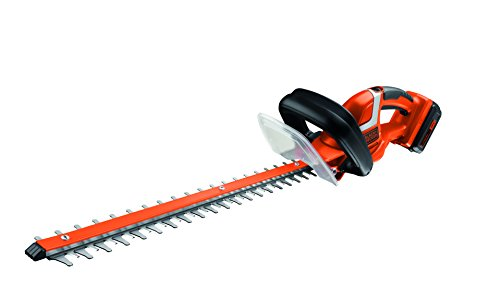 Black + Decker 36 V, 2.0 Ah Akku-Heckenschere, E-Drive Technologie, 2-Hand Schaltung, 55 cm Schwert, Ø 22 mm, GTC3655L20