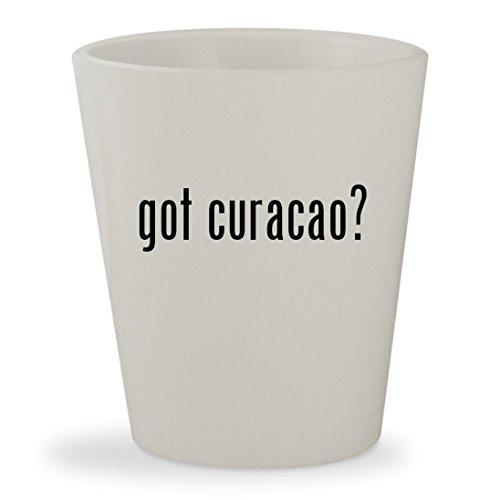 Bols Curacao Orange Liqueur (got curacao? - White Ceramic 1.5oz Shot Glass)