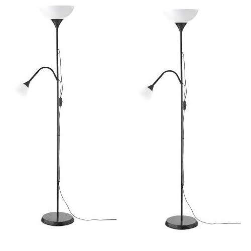 IKEA NOT Lámpara de pie/de lectura, negro, 2 unidades - 603.246.76 ...