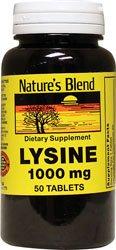 Nature\'s Blend Lysine 1,000 mg 1,000 mg 50 Tabs