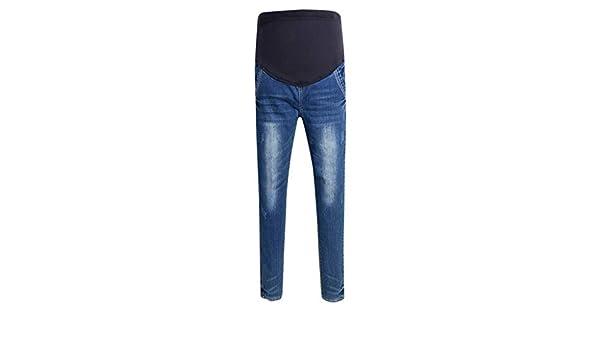 MEOILCE Plus Size Pregnant Pants Woman Stretch Jeans Maternity Pants Trousers Nursing Prop Belly Legging