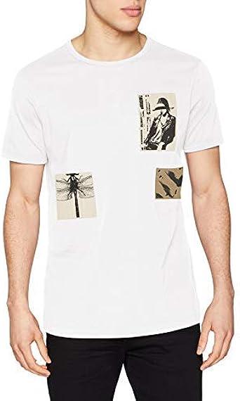 Antony Morato T-Shirt con Patch E Stampa Camiseta de Tirantes para Hombre