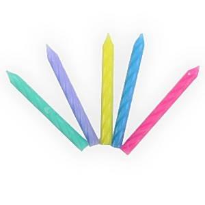 Velas de cumpleaños de espiral - Pastel surtido colores ...