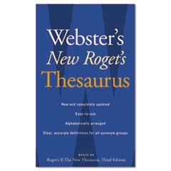Webster`s New Roget`s Thesaurus Office Edition Paperback 544 Pages