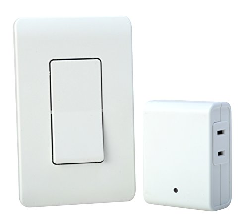 Woods Indoor Remote Control For Lights with Wall Switch (1 Polarized Outlet) by Woods