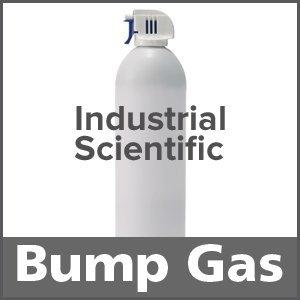 Industrial Scientific 1810-5825 Bump Test Gas: 25% LEL Methane, 15% Oxygen, 200 ppm Carbon Monoxide, 75 ppm Hydrogen Sulfide, Balance Nitrogen