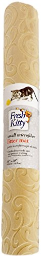 Fresh Kitty Microfiber Foam Litter Mat, Tan by Fresh Kitty