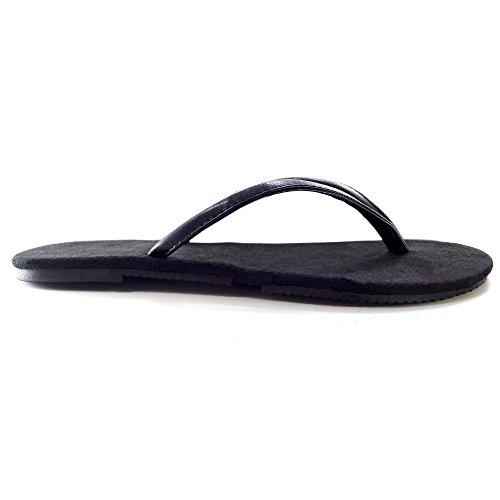 Bumy Foldable Flip Flops. Flip N' Folds Flats. Black Hawaian Sandals, X-Large / 11-12 B(M) US, (Expandable Womens Computer Brief)