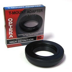 Opteka T-Mount Adapter for Sony Alpha Digital SLRs DSLR-A350, A300, A200, A700, A900, A100, A380, A500, A550, A850, A450,A290, A390, A580, SLT-A33, A55, Minolta Maxxum 5D, 7D, 7, 9xi, 7xi and 5xi ()