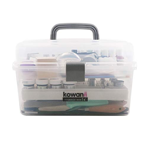 kowanii Cake Decorating Tools Storage Box Large, Organizer Case Caddy Container Cabinet Bin for Icing Piping Tips Kit Kitchen Baking Tools Accessories Supplies Bakeware -