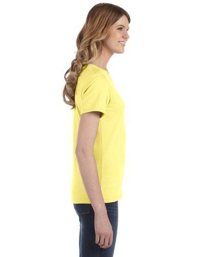 Yunque para mujer hilado y algodón Fashion Fit–Camiseta para hombre Primavera Amarilla