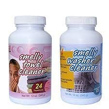Smelly Washer Combo Pack of Washing Machine, Dishwasher Cleaner and Smelly Towel, 2-pack (12-ounce bottles) from Smelly Washer