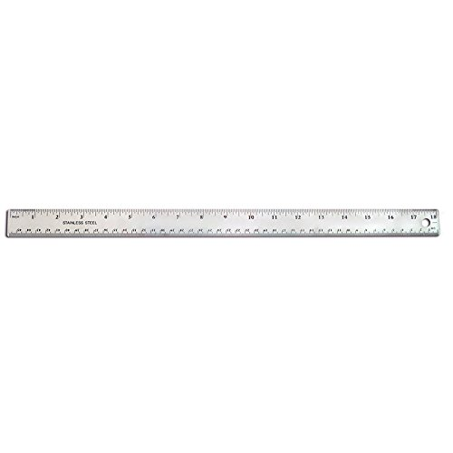 THE PENCIL GRIP 18IN STAINLESS STEEL RULER (Set of 24)