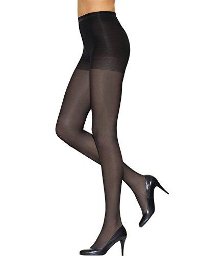 (L'eggs Women`s Set of 3 L`eggs Silken Mist Control Top Semi-Opaque Leg, Enhanced Toe Pantyhose B, Jet Black)