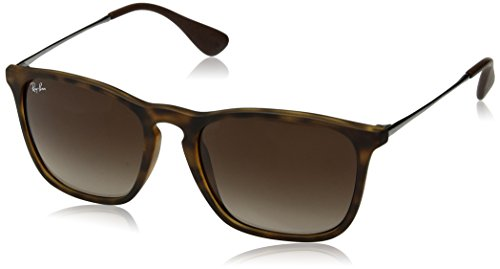 Ray-Ban CHRIS - RUBBER HAVANA Frame BROWN GRADIENT Lenses 54mm - Ray 4187 Ban