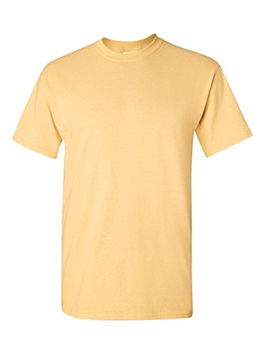 Gildan G5000 Adult Unisex Short Sleeve Heavy Cotton T-Shirt - Yellow Haze G5000 - T-shirt Adult Unisex Short Sleeve
