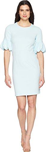 Donna Morgan Women's Short Bubble Sleeve Sheath Dress, Clear Sky 12