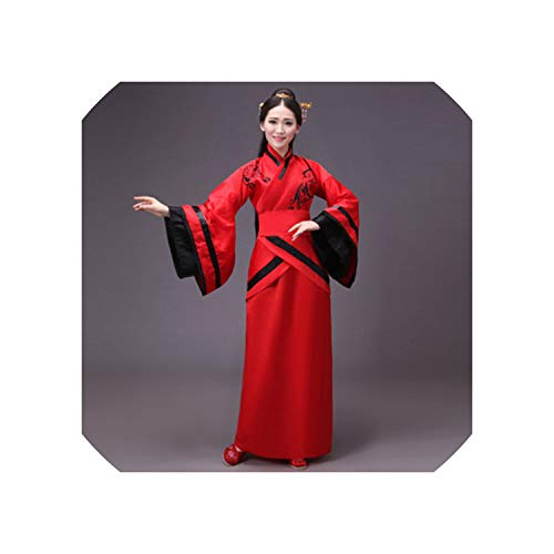 Woman Stage Dance Dress Costumes Suit Performance Hanfu Female Cheongsam,Color10,XXL(176-182Cm) -