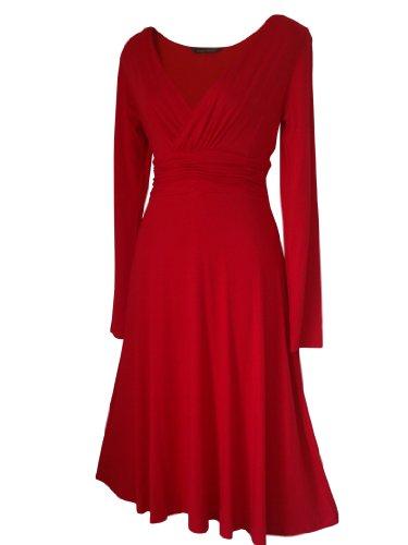 Rouge 52 diffrents Robe STYLE 36 Sexy cocktail longues coloris Femme en robe Disponible VINTAGE lgante Taille manches Robe de XUTqFxX