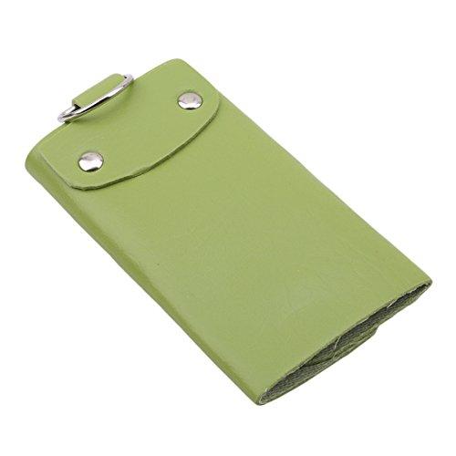 Rurah Leather Key Case Wallet Mens Womens Key Case Car Key Holder Bag Wallet,green by Rurah (Image #2)