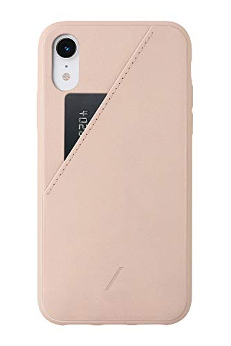 Native Union Clic Card Case - Leather Cover with Card Holder - Compatible with iPhone XR (Rose)
