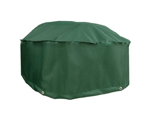 Bosmere C773 Round Fire Pit Cover, 60 x 24, Green by Bosmere