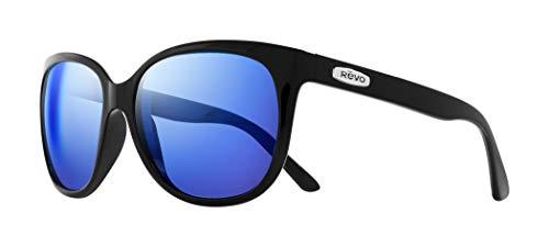 Revo Unisex RE 4051 Grand Classic Square Polarized UV Protection Sunglasses, Black Frame, Heritage Blue ()