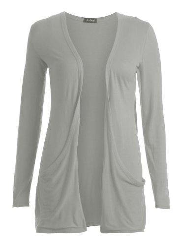 Fast Fashion - Gilet Long Manches Longues style Boyfriend - Femme - 36/38 - Léger Gris