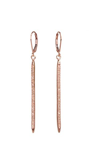 Lever Champagne Hand (Rose Gold Lever Back Pave Diamond Spike Earring- 2.3