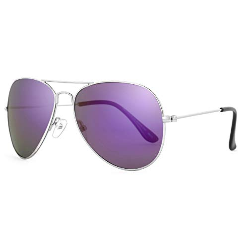 - ROLF ROSSINI Kids Sunglasses Polarized for Boys and Girls with Case UV 400 Protection Toddler Eyewear 50MM (Silver, Purple)