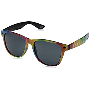 neff Daily Shades Rectangular Sunglasses, Primary Tie Dye, 6 mm