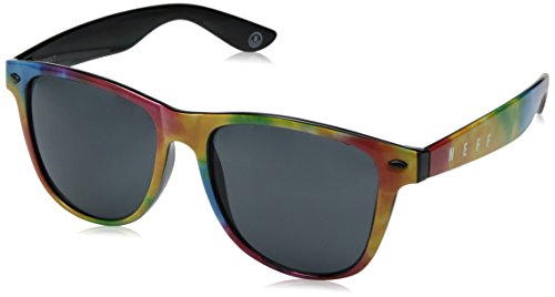 - NEFF Men's Daily Shades Unisex Sunglasses with Cloth Pouch, Primary Tie Dye, One Size