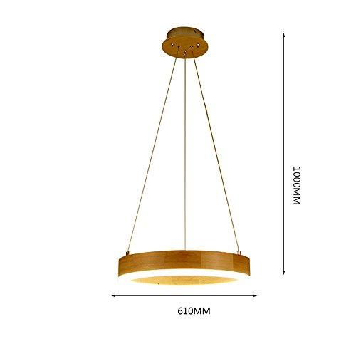 HOMEE Ceiling Chandelier-Creative Chandelier Nordic Led Chandelier Art Restaurant / Bar Lamp / Simple Personality Large Living Room / Bedroom Wood Light Eye Protection,61100Cm by HOMEE
