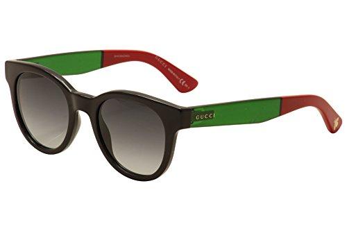 Gucci Gucci 1159/S 0U8J Black Green Red 9O dark gray gradient lens - Glasses Green Red And Gucci