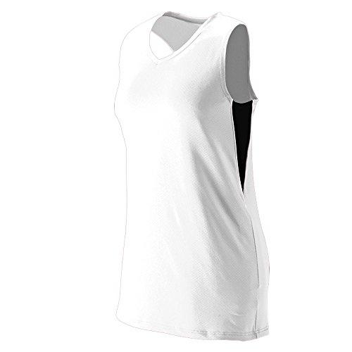 Augusta Sportswear Girls' Inferno Jersey L White/Black/White ()
