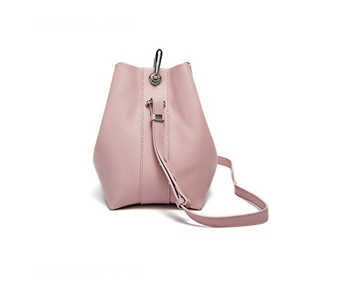 Aire Dama Roja Simple Rosa Moda Nueva GWQGZ Pink Bolso Cuchara De Bolso De Hombro XZqg7