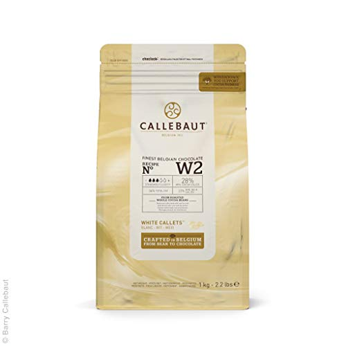 CALLEBAUT Receipe No. W2 - Kuvertüre Callets, Weiße Schokolade, 28% Kakao, 1 x 1000 G
