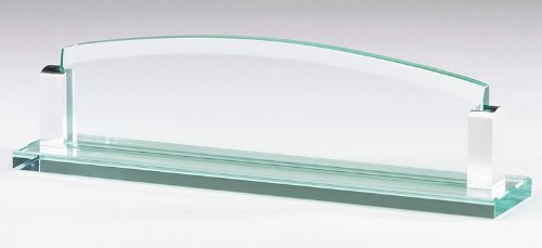 Glass Name Plate with Free Engraving