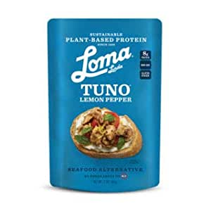Loma Linda Blue - Plant-Based Meal Solution - Lemon Pepper Fishless Tuna (3 oz.) (Pack of 12) - Non-GMO, Gluten Free