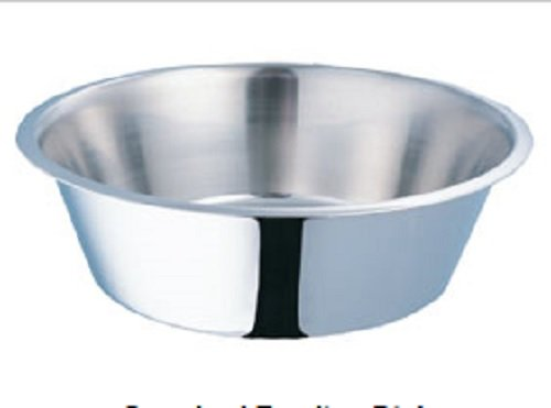 Bulk Stainless Steel Dog Bowl, Round - 7.5 Quart (12pack)